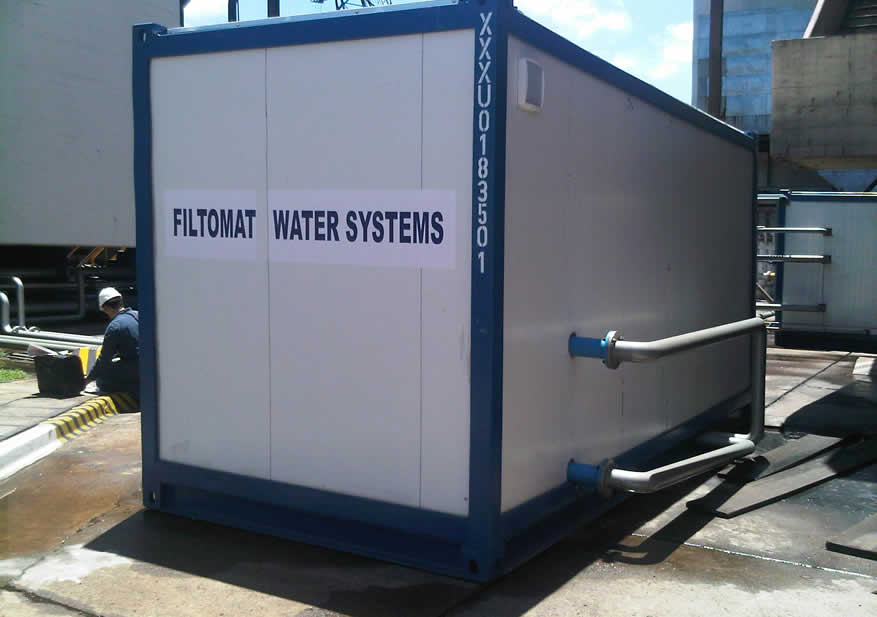 Planta de tratamiento de agua potable en contenedor - Contenedor de agua ...
